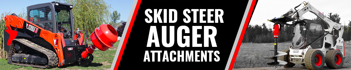 Auger Attachments, Drives and Bits for Skid Steer Loaders