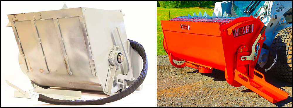 Skid Steer Cement Mixing Attachment
