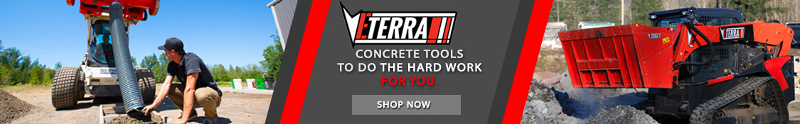 A wide selection of concrete tools and attachments for Skid Steer Loaders