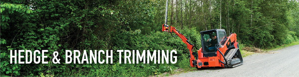 Trim back trees, branches and hedges with these incredible sickle bar mowers and skid steer mowing attachments.