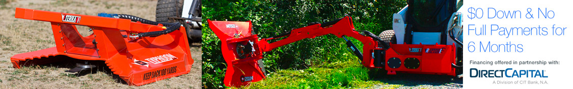 A wide range of Skid Steer Mowers and Brush Clearing Attachments