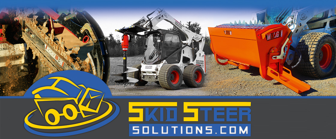 Shop premium attachments and accessories for skid steer loaders, excavators and mini skid steer at skid steer solutions
