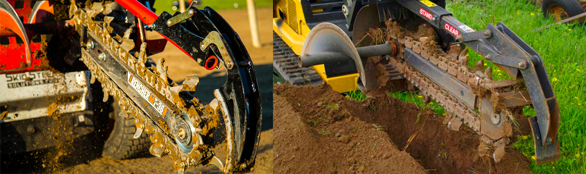 The Ultimate Guide to Skid Steer Trencher Attachments - Skid Steer