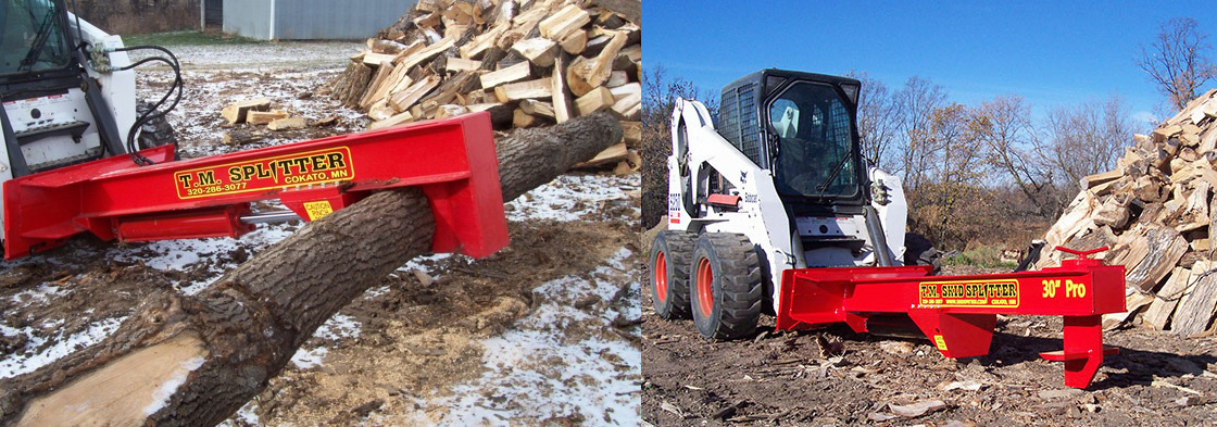 A wide range of versatile and effective Skid Steer Log Splitters from TM Manufacturing