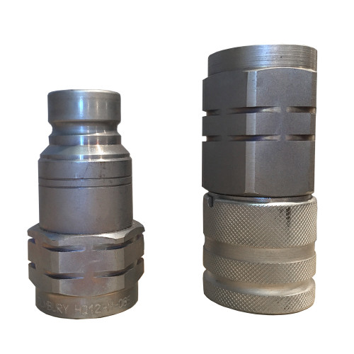 """Hydraulic Flat Faced Coupler 1/2"""" and 1/2"""" SAE"""