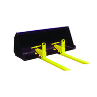 Clamp On Bucket Forks Attachment for Skid Steer
