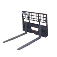 Rail Style Pallet Forks attachment for skid steer loaders