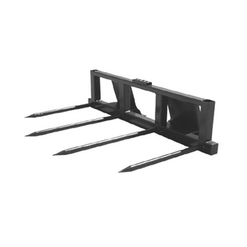 Large Square Bale Spear Attachment - Cold Rolled Tines