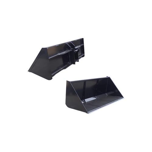Telehandler Quick Attach Dirt Bucket Attachment front and rear view