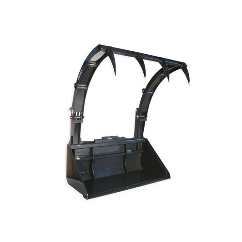 The Skid Steer Hay Bucket Grapple Attachment jaws open up to 74.3 in.