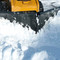 The Heavy Duty V-Snow Blade Attachment can cut through all types of snow