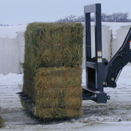 Telehandler Dual Large Square Bale Carriage Attachment