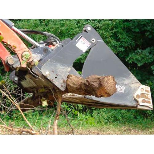 Telehandler 4-In-1 Heavy Duty Construction Bucket Attachment in Action