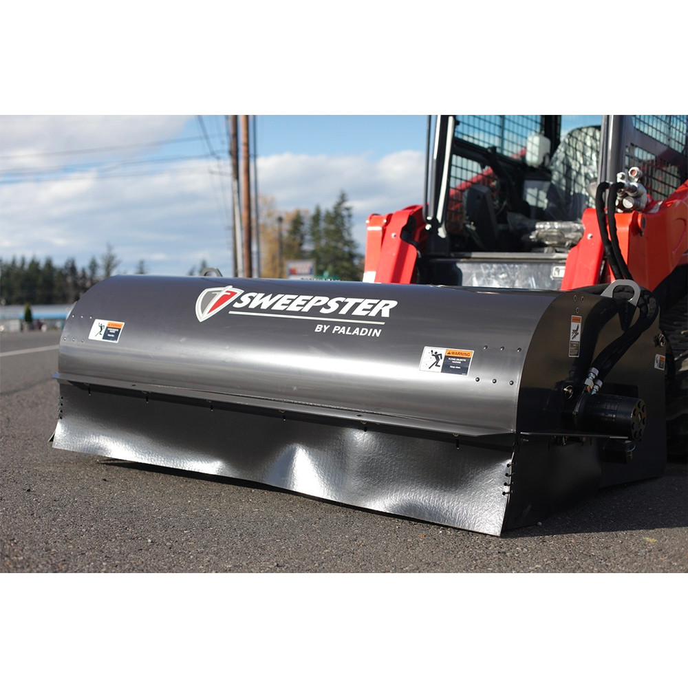 Sweepster Skid Steer Front Collector Rotary Broom   Skid