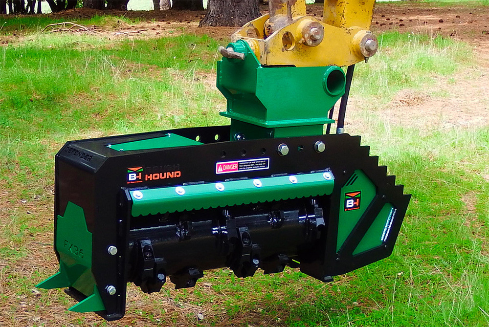 Rockhound Fx36 Defender Excavator Forestry Mulcher Skid