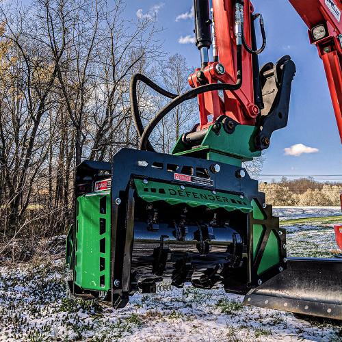 Excavator FX26 forestry mulcher photo.