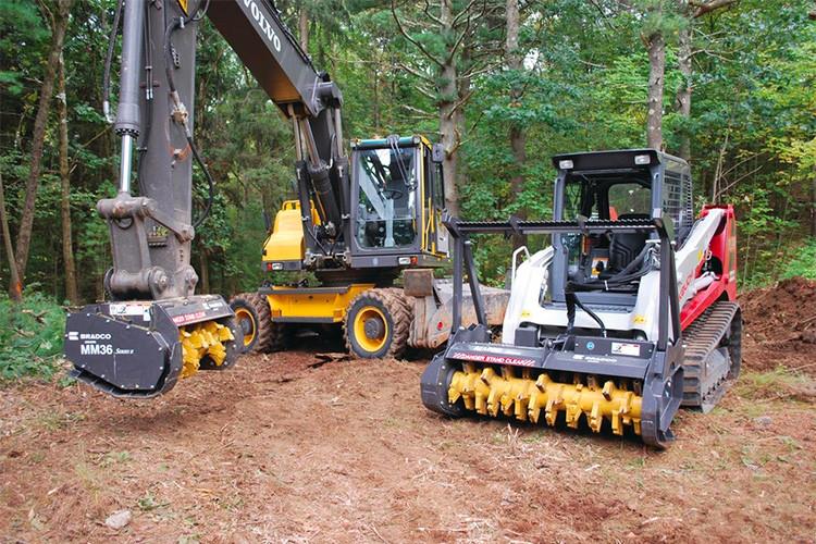 Series II Excavator Mulcher Attachment   Bradco