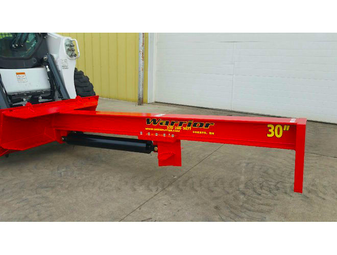 TM Warrior Skid Steer Log Splitter Attachment   TM MFG