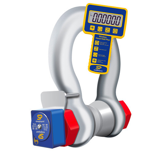 Smart Hook Load Shackle with wireless handheld monitor