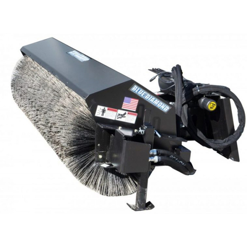 Blue Diamond Skid Steer Heavy Duty Angle Series 2 Broom Attachment.