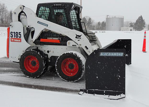 "Quick Attach Snow Pusher Attachment for Blue Diamond Trip Edge Blades 96-120/"""