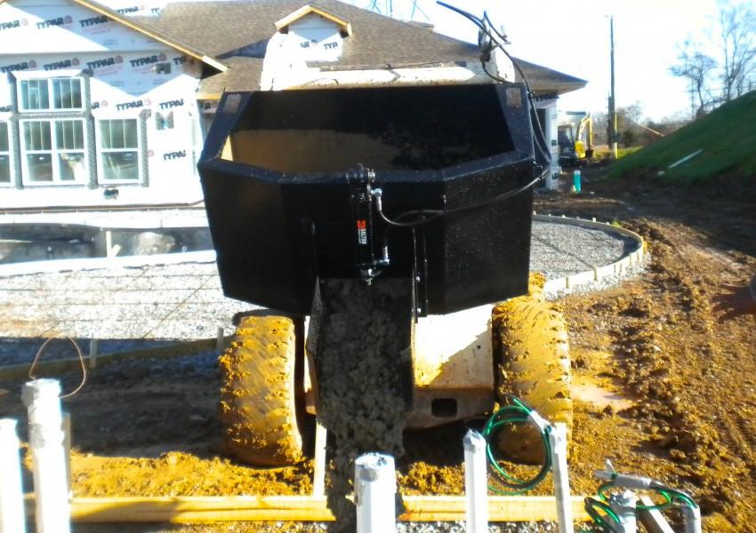 Skid Steer Dispensing Bucket | Blue Diamond