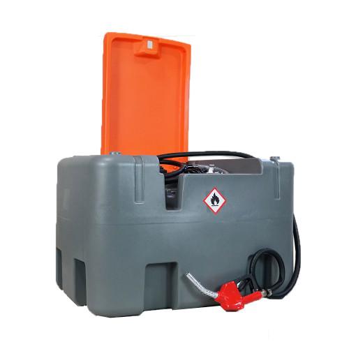 Skid Steer Basic Diesel Fuel Transfer Tank with fuel pump holds 106 galloons of diesel.