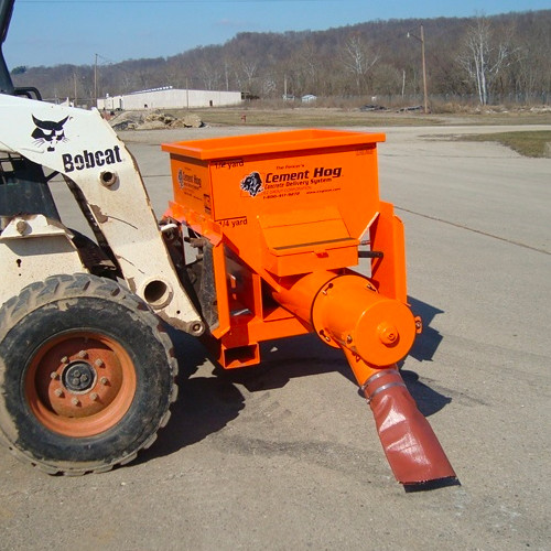 Cement Hog Skid Steer Concrete Dispenser Attachment Skid Steer Solutions