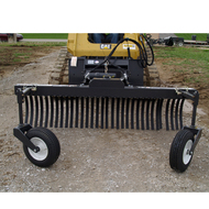 FFC Grader Rake Attachment for Skid Steer Loader front view