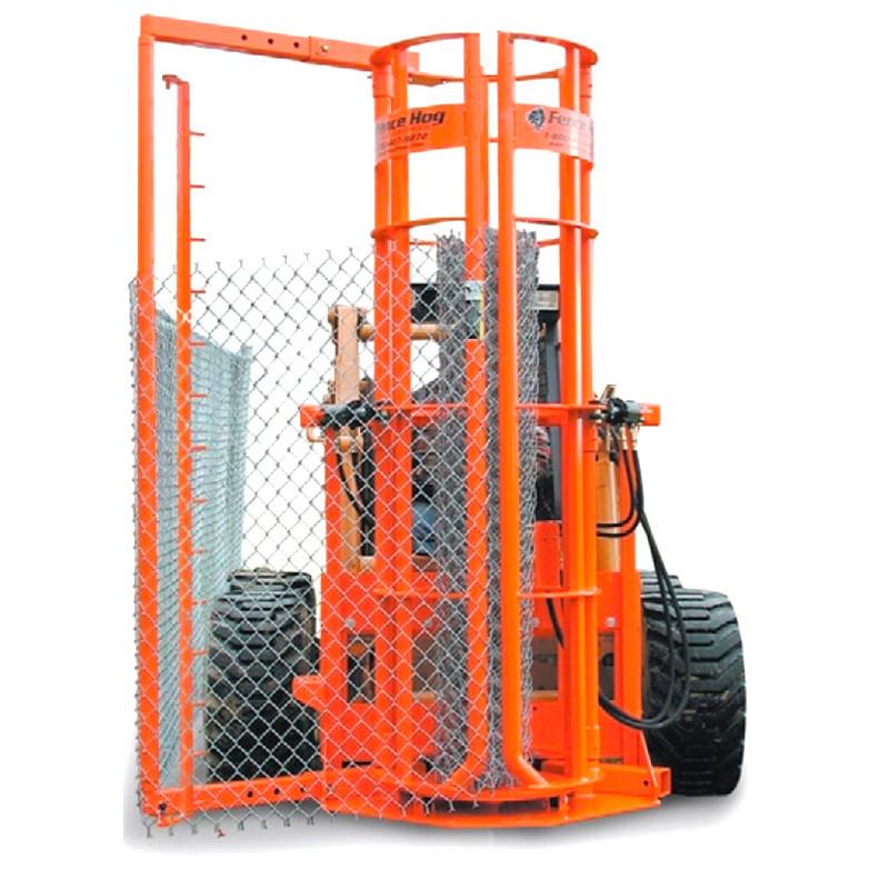 Fence Hog Skid Steer Fence Installer Attachment Skid