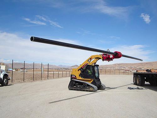 EZ Spot UR Heavy Duty Pole Setter Attachment for Skid Steer Loaders