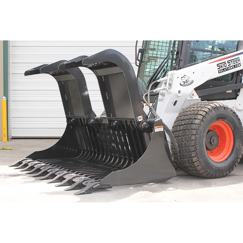 FFC Commercial Duty Skid Steer Brush Grapple Attachment Detail