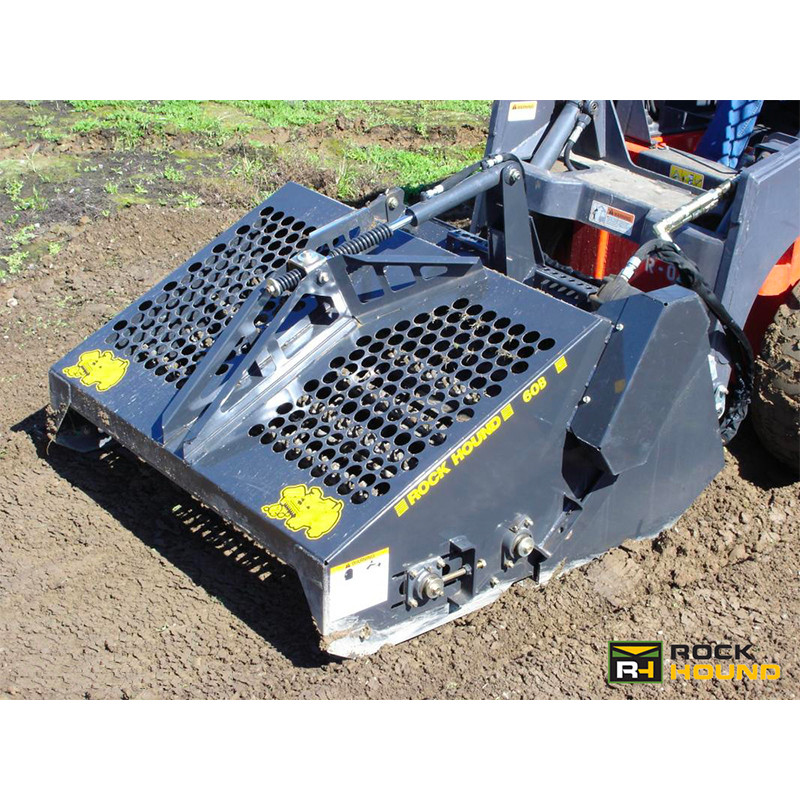 Make your landscape better with a Skid Steer mounted Rockhound Landscape  Rake - Rockhound Skid Steer Landscape Rake Attachment Skid Steer Solutions