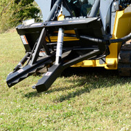 Post Puller Attachment for Skid Steer Loader - Side View