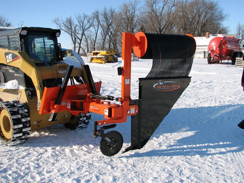 """36"""" Rotary Silt Fence Plow Attachment for Skid Steer Loader"""