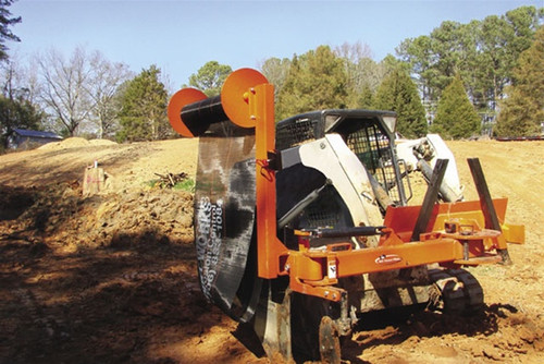 """Push Pull 48"""" Silt Fence Plow Attachment for Skid Steer Loader"""