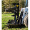 M&M Skid Steer Hydra-Clip Tree Shear with Tree Grapple Attachment Side View