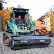 Bradco Vibratory Roller Attachment on IHI Skid Steer