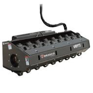 Bradco Padded Vibratory Roller Attachment for Skid Steer Loader