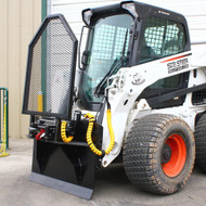 BSG Winch Attachment for Skid Steer Loader - Front Left