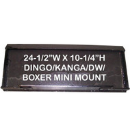 Eterra Toro Mini Mount Weld-On Adapter Attachment for Skid Steer Loader Dimensions