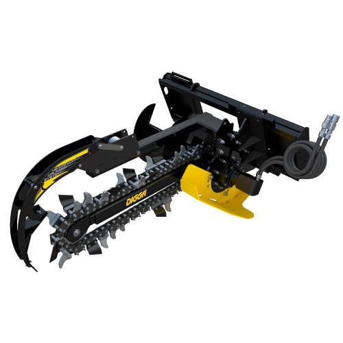 The right side view of the 3 Ft. Trencher by Digga.