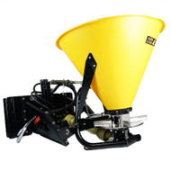 Eterra Motorized 3-Point Adapter with a Material Spreader attached.