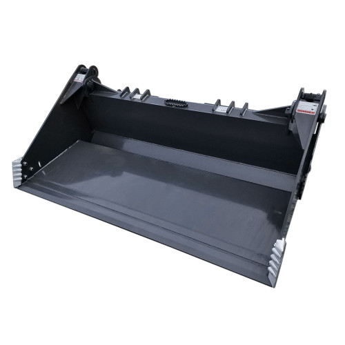 Heavy Duty 4-in-1 Bucket featuring the cutting edge and main bucket with a clean powder coated finish.