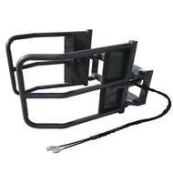 CID Skid Steer Bale Squeezer. Give your round bales a hug with this attachment!