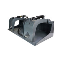 Skid Steer Grapple Bucket by Skid Steer Basics is great for moving and scooping