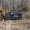 The Skid Steer Disc Mulcher by Bradco showing off all the angles