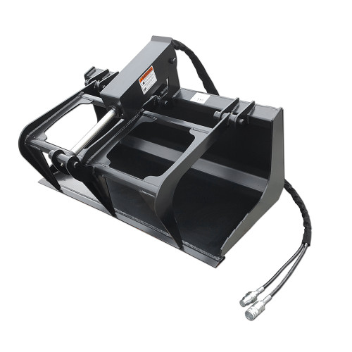 This Mini Skid Steer Grapple Bucket is able to lift rocks, debris, logs, manure and... actually there's not much that it can't grapple.