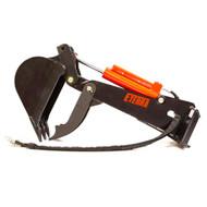 Eterra E40 Mini Skid Steer Backhoe Attachment.