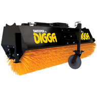 Digga's Skid Steer Angle Broom is fully loaded with unique features to keep you sweeping longer.